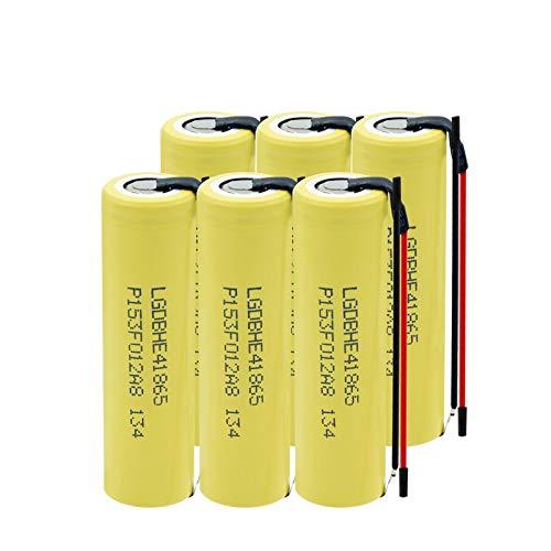 WSXYD 3.7v 2500mah Batería De Alta Descarga 35a 18650 He4, Batería Recargable DIY Linie para Linterna 6PCS