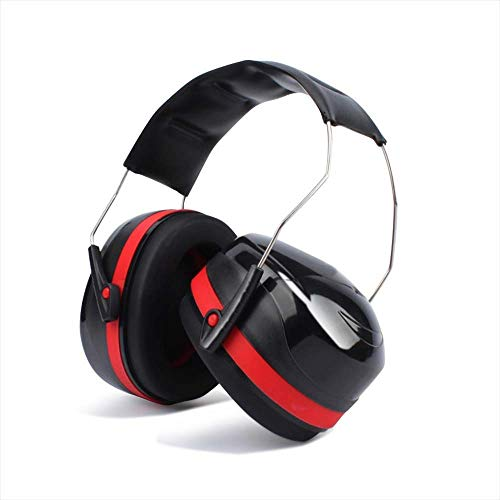 NUZAMAS Ear Defenders, Sound Hearing Protection, Ear Muffs Noise Cancelling Headphones, Shooting, Construction, Gardening, Lawn Mowing, Garage Work - Padded Head Band Fits Adults and Kids