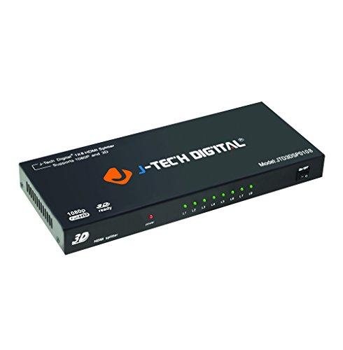 J-Tech Digital 8-Port HDMI v.1.3 Splitter 1x8 Full HD 1080P Certified with 3D