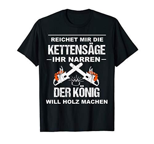Herren Waldarbeiter Holzfäller Outfit Geschenk Forstwirt Fun Idee T-Shirt
