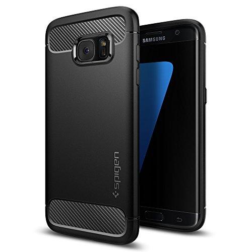 Spigen Rugged Armor Hülle Kompatibel mit Samsung Galaxy S7 Edge -Schwarz