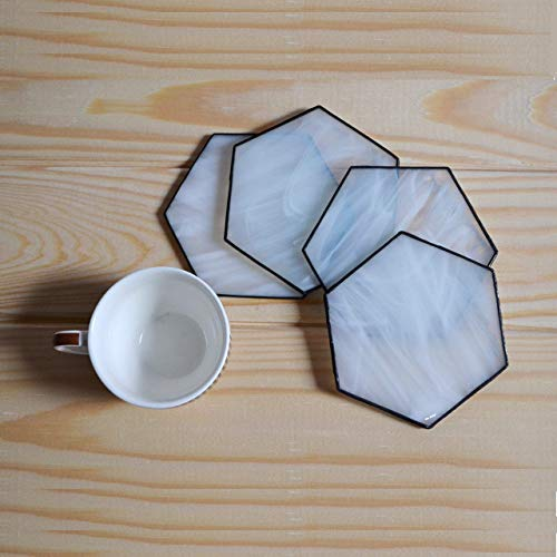 Wire-framed hexagon coasters