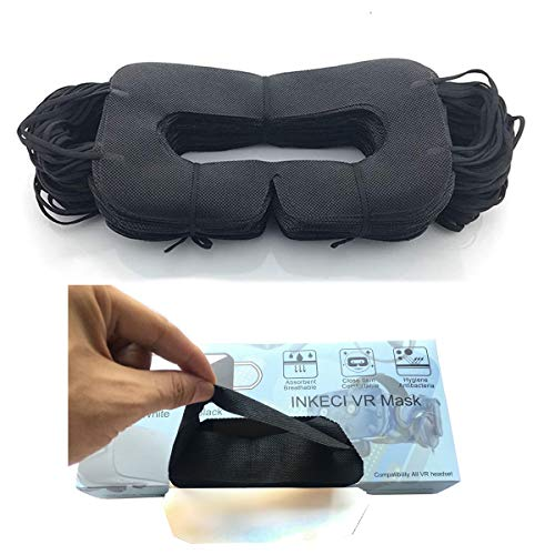 VR Mask 100pcs VR Experience Face Mask Sanitary Cloth Compatible VR Oculus Rift Playstation VR HTC Vive VR Goggle VR Box-Prevent Sweat and Dirt