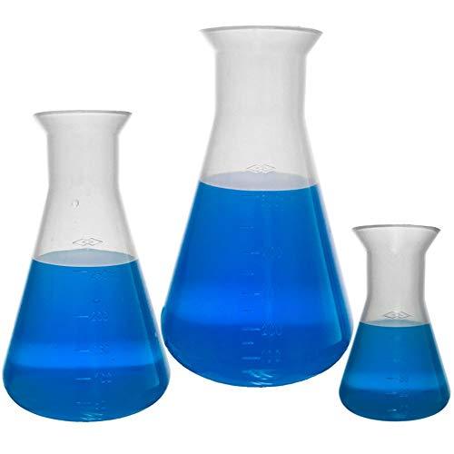 Plastic Erlenmeyer Flask Set - 3 Sizes - 50, 250,...