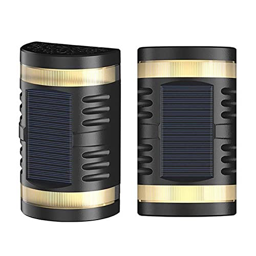 Obubble 2 lámparas solares para exterior, luz blanca, lámpara de pared, impermeable, resistente al polvo, farol solar para jardín, iluminación exterior en el patio interior de...