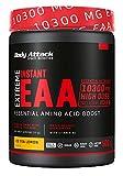 Body Attack Extreme Instant EAA Powder - 500g, extremadamente sabroso, instantáneamente soluble, vegano, 8 aminoácidos esenciales altamente dosificados - 10300mg EAA por batido, Té helado