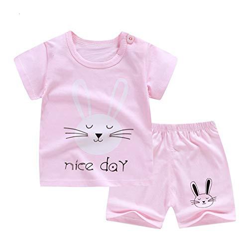 SAMGU Ensembles De Vêtements pour Filles, 2Pcs Vêtements D'Été pour Bébés pour Bébés, T-Shirts À Manches Courtes Et Hauts avec Shorts