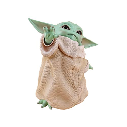 Baby Yoda Figure Toys, 5.9 Inch The Child Yoda Resin Replica Collection Toy from The Mandalorian Birthday Gift For Kids