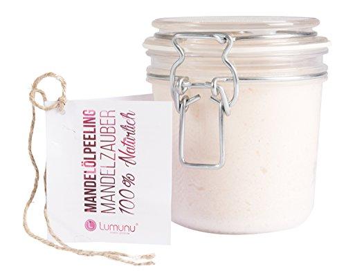 Deluxe 3-in-1 Creme Öl-Peeling MANDELZAUBER (500g), 100% natürliches Körper-Peeling mit Mandelöl in edlem PET Bügelglas, vegan & tierversuchsfrei, von Venize
