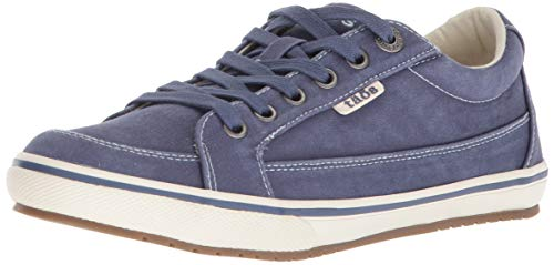 Taos Footwear Women's Moc Star Indigo Distressed Sneaker 8.5 M US