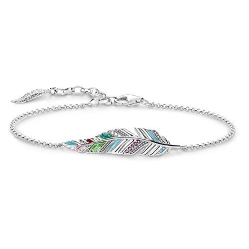 THOMAS SABO Damen Armband Glam & Soul Feder Längenverstellbar 16-19 cm 925 Sterling Silber