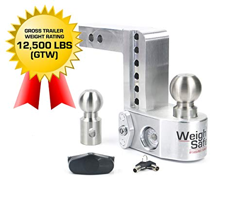 Why Should You Buy Weigh Safe WS6-2-BA 6 Drop Hitch, 2 Receiver 12,500 LBS GTW - Adjustable Alumin...