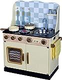 Best For Kids Kinderküche Spielküche COUNTRY W10C170 aus Holz mit Zubehör Super Qualität aus MDF Platte