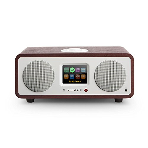 NUMAN One 2.1 Design - Internet Radio, Netzwerkplayer, 20 Watt, Bluetooth, Spotify Connect, WiFi, AUX, DAB/DAB+, Farbdisplay, 2 x 2,5'' - Breitbandlautsprecher, wenge