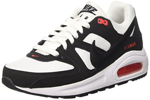 Nike Nike Jungen Air Command Flex (GS) Sneaker, Mehrfarbig (White/Black/Max Orange 100), 38 EU