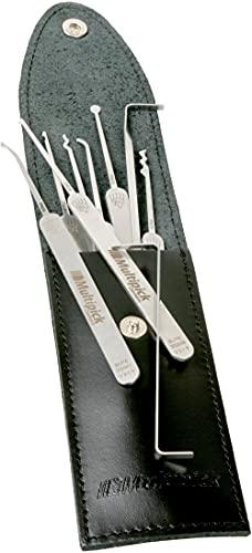 Multipick ELITE 9 Profi Dietrich Set - Made in Germany - Lockpicking-Set - öffnet nahezu jede Tür - 9 Teile - aus Vollmetall in Schlüsseldienst Qualität