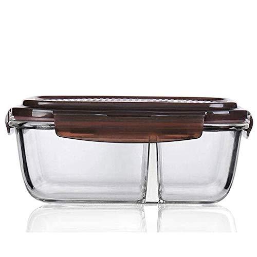 Cttiulifh Bento Lunch Box - 2 Tier Box conteneurs, verre - étanche, verre repas de préparation des conteneurs couverts, verre Bento Boîte à lunch Conteneurs avec des ustensiles, Bento-Styled Déjeuner
