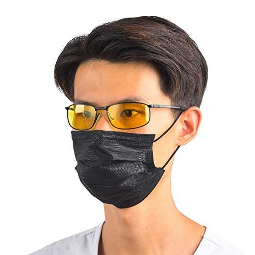 Mothinessto Anti Gafas, Gafas de Sol de Moda Retro, Resistentes y cómodas Gafas de conducción para Esquiar para Hombres para Andar en Bicicleta