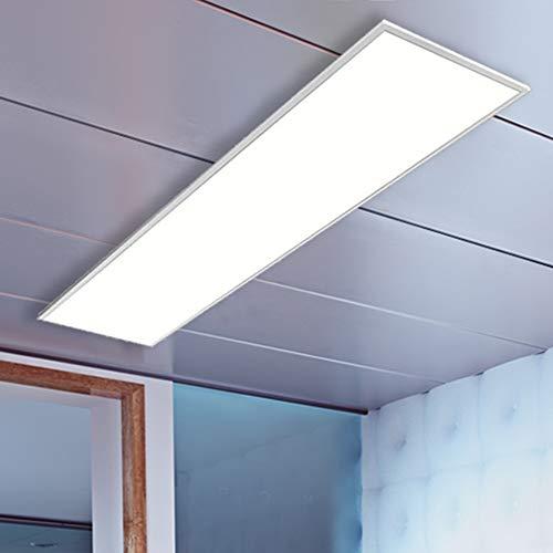 LED Panel Pendel, EVA weiß, 105x30cm, 42W LED Bürolampe als Pendelleuchte, neutralweiß, Büroleuchten, Deckenleuchte