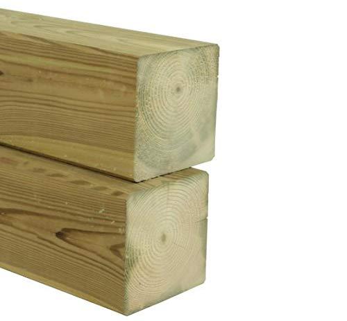 Gartenwelt Riegelsberger Pfosten Kantholz Kiefer imprägniert 120x120 mm Länge 100 cm Konstruktionsholz 4-seitig glatt gehobelt