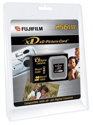 FujiFilm 256 MB xD Picture Card, Type M (600004661) 2 High capacity flash memory format for digital cameras TYype M 256 MB storage capacity 1.3 MB/sec record speed, 5MB/sec read speed