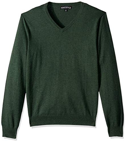 J.Crew Mercantile Men's Long Sleeve Cotton V-Neck Sweater, Heather Garland, XS