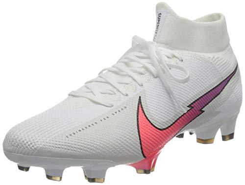 Nike Superfly 7 Pro FG, Zapatillas de ftbol Unisex Adulto, White Flash Crimson Photon Dust Hyper Jade Black, 40.5 EU