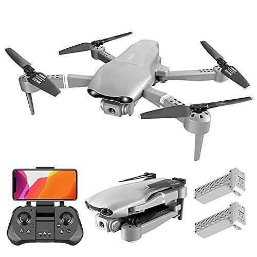 Drone con cámara GPS Drone para adultos con cámara 4K 5G FPV Video en vivo para principiantes, Quadcopter RC plegable con retorno automático a casa, Sígueme, Cámaras duales, 2 baterías, Incluye tran