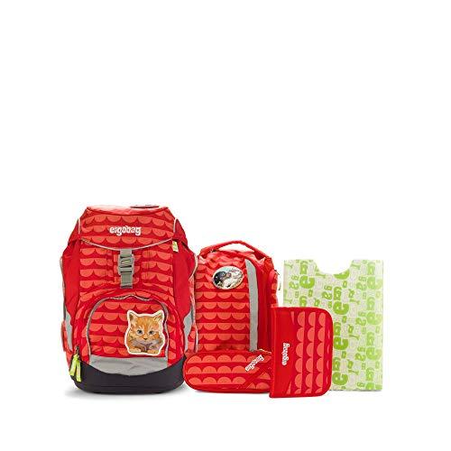 Ergobag Pack SchaBärnack, ergonomischer Schulrucksack, Set 6-teilig, 20 Liter, 1.100 g, Rot