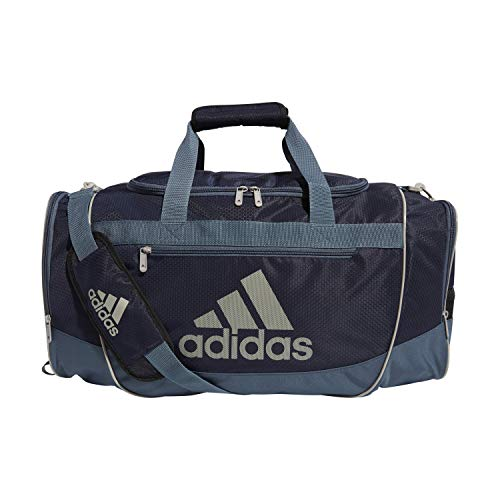 adidas Defender III - Bolsa de Lona (tamaño Mediano), Color Azul Marino, Gris