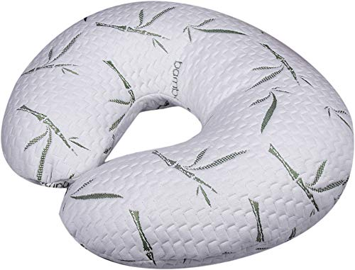 Nursing, Breastfeeding Baby Support Pillow, Newborn Infant Feeding Cushion | Portable for Travel | Nursing Pillow for Boys & Girls With Washable Zippered Bamboo Pillow Covered