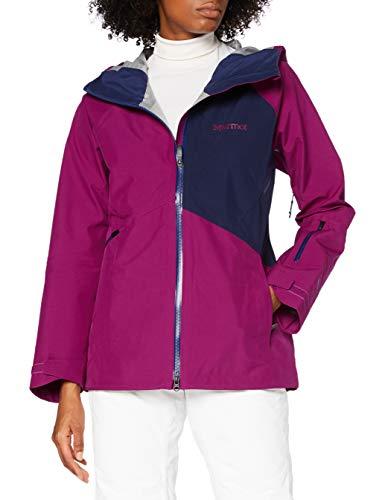 Marmot JM Pro Jacket Femme, Rose Sauvage/Bleu Marine Arctique, m