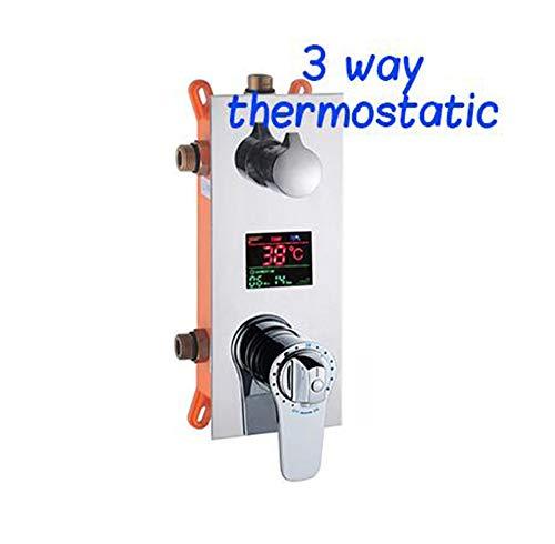 MICHEN Digitale Temperaturanzeige Thermostatpatronen Ventil Dreifachmischer Ventil Für Bad Dusche Wasserhahn Duschpaneel,3waythemostatic