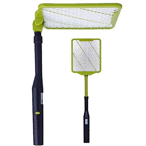 Matamoscas eléctrico - Raqueta eléctrica Mata Mosquitos Exterminadora de Insectos con Mango, Plagas Insectos Asesino Repelente, plegable y extensible