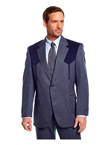 Circle S Western Sport Coat Mens Boise Suede 56 LX Navy CC2976