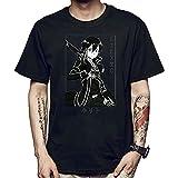 Sword Art Online Camiseta Hombres Mujeres Kirito Asuna Cosplay Figuras de Anime japonés Manga Corta Harajuku Camisetas para Adolescentes Unisex Adultos