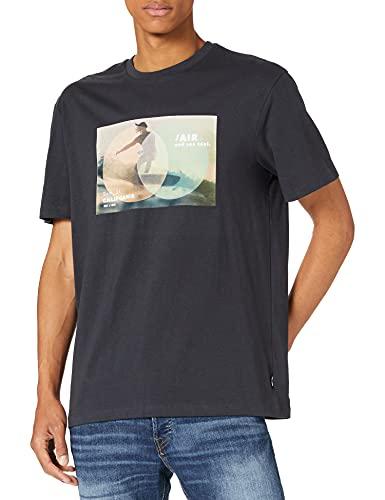 Only & Sons 100% Baumwolle-Organic Camiseta, Azul Marino, L para Hombre