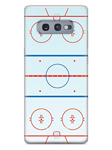 Inspired Cases - 3D Textured Galaxy S10e Case - Rubber Bumper Cover - Protective Phone Case for Samsung Galaxy S10e - Hockey Rink - Court Outline