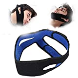 Anti Snoring Strap, Adjustable Chin Strap Stop Snoring Headband Jaw Support Facial Lifting Belt Solution Brace Men Women Relief Snore Stopper Sleep Aid Comfortable Snoring Solution Snore Stopper