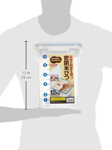 アスベル密閉米びつパッキン付12kg