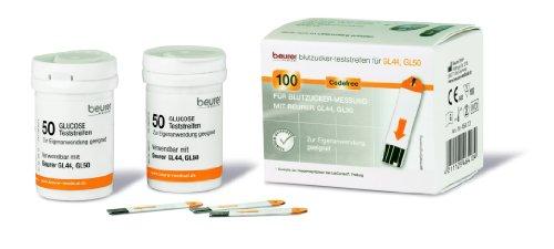 Beurer GL 44 & GL 50 Teststreifen, 2er Pack ( 2 x 50 Teststreifen)
