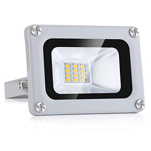 10W LED Floodlight IP65 Impermeable 12V Baja presión Exterior...