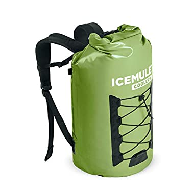 ICEMULE Pro Insulated Backpack Cooler Bag - Hands-free, Highly-Portable, Collapsible, Waterproof and Soft-Sided Cooler Backpack for Hiking, the Beach, Picnics, Camping, Fishing - 33 Liters, 30 Can