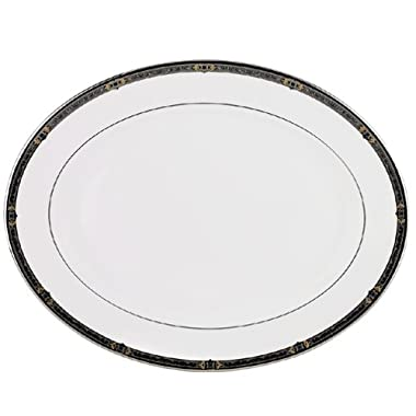 Lenox Vintage Jewel Platinum-Banded Bone China 16-Inch Platter