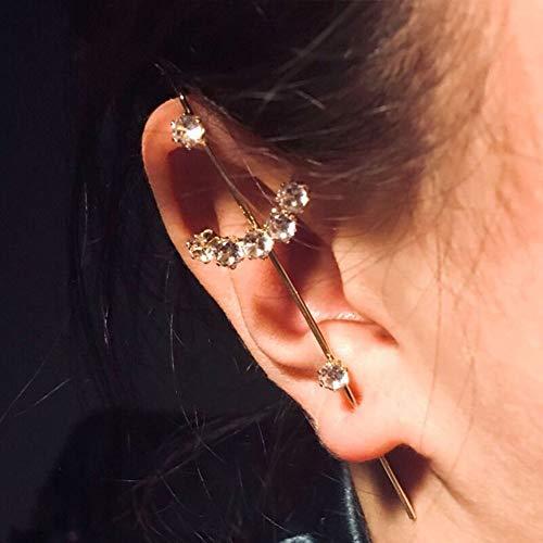 Kristalle Haken Ohrringe,Ohrnadeln Rund Um Die Aurikel,Clip Schmuck,Hypoallergene Frauen Ohrringe(1 Paar)