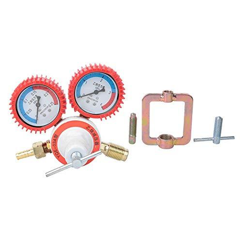 Réducteur de Pression Manomètre Oxygène Acétylène, Double Outil en Laiton de Coupe de Soudure de Manomètre(Acetylene)