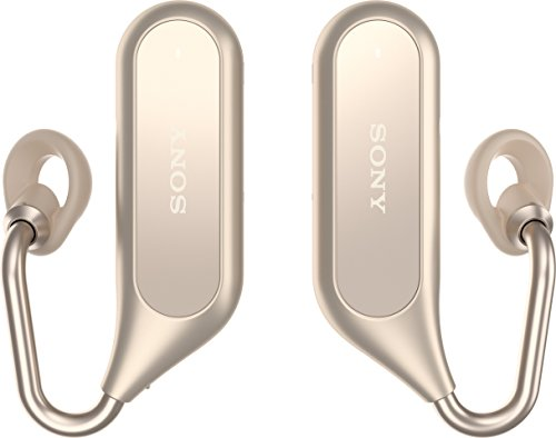Sony Bluetooth Stereo Kopfhörer Xperia Ear Duo XEA20 mit Ladeschale und Open-Ear Technologie, Gold