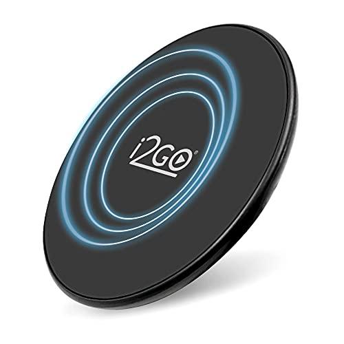 Carregador Sem Fio Fast Charge I2GO 10W Chumbo - I2GO PRO Preto