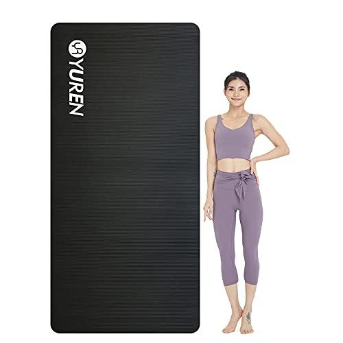 YUREN Esterilla Yoga Antideslizante Alfombrilla de Yoga Esterilla Pilates Esterilla
