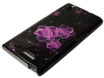 HARD Protector Case Phone Cover For MetroPCS ZTE ZMAX Z970  Purple Rose